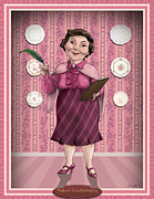 Illustration Digital Art Framed Prints - Dolores Jane Umbridge Framed Print by Christopher Ables