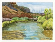 Grand Junction Painting Prints - Dolores River Gateway CO Print by Gurukirn Khalsa