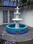 Dolphins Ceramics - Dolphin Fountain by Thomas Deir