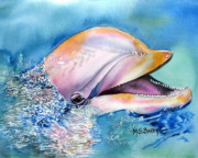 Dolphin Painting Prints - Dolphin Print by Maria Barry