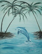 Seraph Prints - Dolphin Play Print by Tamara Seraph