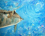 Liberation Paintings - Dolphin-portal by Tamara Tavernier