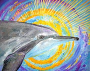 Liberation Painting Prints - Dolphin Ray Print by Tamara Tavernier