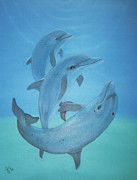 Ocean Mammals Originals - Dolphins at Play by Judy Grindle Shook