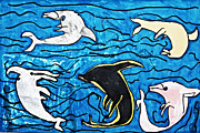 Ocean Mammals Originals - Dolphins Ballet by Stephanie Ward