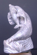 Dolphin Sculpture Originals - Dolphins First Breath by Gerald Sandau