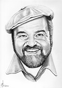 Famous People Drawings - Dom Deluise by Murphy Elliott