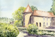 France Paintings - Domaine des Etangs France1 by Frances Evans