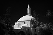 Kypros Framed Prints - Dome And Minaret Of Hala Sultan Tekke Mosque Larnaca Republic Of Cyprus The Umm Haram Mosque Framed Print by Joe Fox