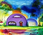 Dome Paintings - Dome House by Anna Baker