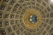 Architectural Feature Photos - Dome Inside Sienas Cathedral by Keenpress