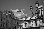 Umberto Metal Prints - Dome Of Galleria Umberto 1 Metal Print by Terence Davis