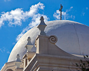 Desert Dome Photos - Dome of San Xavier Mission by Jon Berghoff