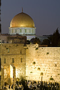 Tourists Attraction Photo Prints - Dome Of The Rock And The Western Wall Print by Richard Nowitz