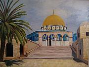 Jerusalem Painting Posters - Dome of the Rock Poster by Karen Dukes