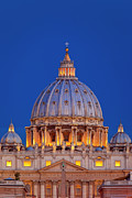 Michelangelo Framed Prints - Dome San Pietro Framed Print by Brian Jannsen