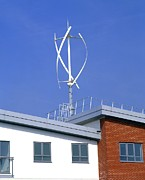 Milton Keynes Prints - Domestic Micro Wind Turbine Print by Martin Bond