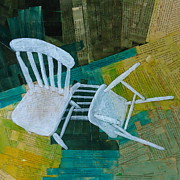 Chairs Mixed Media Framed Prints - Domestic Framed Print by Paul OBrien