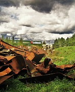 Scenery Digital Art Originals - Domfer Deconstruction Twisted Metal by Reb Frost
