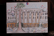 Haiti Drawings - Dominican Republic Urban Culture by Michael Vincent Whitemiller