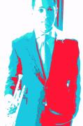 Trumpet Digital Art - Dominick Farinacci Pop Art by Mike Grubb