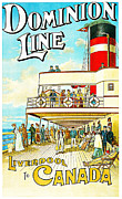 Liverpool  Paintings - Dominion Line  by William Cossens