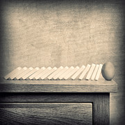 Dominoes Photos - Dominoes and Egg by Ian Barber