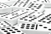 Game Prints - Dominoes I Print by Tom Mc Nemar