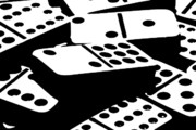High Contrast Prints - Dominoes III Print by Tom Mc Nemar