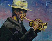 Don Cherry Paintings - Don Cherry Pocket Trumpet by Brian Forrest