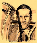 Actors Drawings - Don Draper Aged Perfection by Jason Kasper