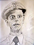 Slapstick Drawings - Don Knotts Barney Fife  by Donald William
