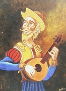 Don Quijote Paintings - Don Quijote by Unique Consignment