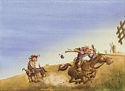 Books Paintings - Don Quixote by Andy Catling