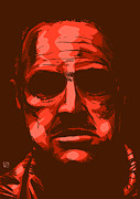 Movie Drawings Prints - Don Vito Corleone Print by Giuseppe Cristiano