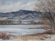 Horsetooth Mountain Posters - Donath Winter Poster by Susan Driver