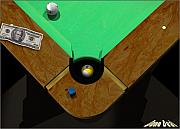 9ball Framed Prints - DoneDeal Framed Print by Draw Shots