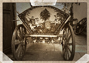 Horse And Cart Posters - Donkey Cart Poster by Cliff  Norton