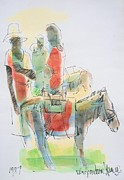 Bob Marley Painting Originals - Donkey lady by Ken Spencer