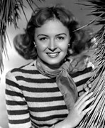 Striped Scarf Framed Prints - Donna Reed, Ca. 1947 Framed Print by Everett