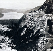 Tunnels Prints - Donner Lake from Summit - California - c 1865 Print by International  Images