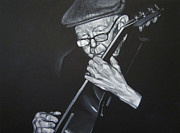 Jazz Drawings Prints - Donny Gilliland Print by Steve Hunter