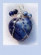 Wire Wrap Jewelry Art - Dont Be Blue by Rhonda Chase