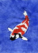 Koi Painting Posters - Dont Be Koi Poster by Eric Forster