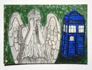 Dr Who Paintings - Dont Blink AECO by Sabrina Zbasnik