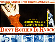 Ogling Posters - Dont Bother To Knock, Marilyn Monroe Poster by Everett
