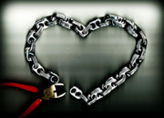 Wire Digital Art - Dont Chain My Heart by Dolly Mohr