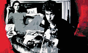 Bob Dylan Paintings - Dont Look Back by Luis Ludzska