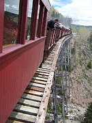 Narrow Gauge Photos - Dont Look Down by Luke Moore