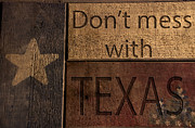 Photographs With Red. Acrylic Prints - Dont mess with Texas Acrylic Print by Kelly Rader